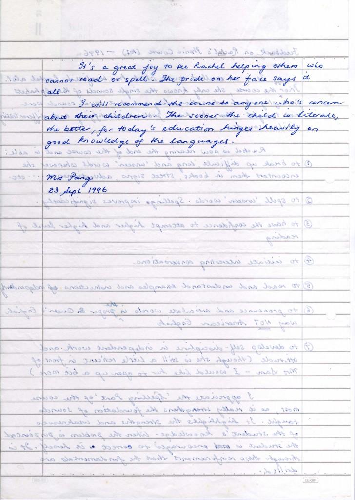 Mrs Sam Testimonials (2)